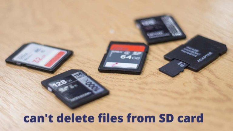 cant delete files from SD card